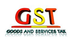 GST word in 3d illustration. stock images