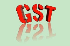 GST word in 3d illustration. stock photos