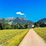 Gstaad-Weg Stockfotografie