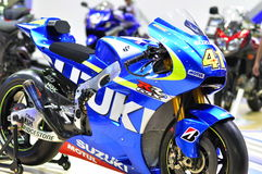GSX-RR Suzuki motorbike at the 36th Bangkok International Motor Show 2015 Royalty Free Stock Image