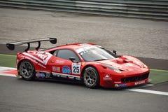 GT öppna Ferrari 458 italia GT3 på Monza Arkivbild