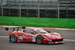 GT öppna Ferrari 458 italia GT3 på Monza Royaltyfria Bilder