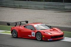 GT öppna Ferrari 458 italia GT3 på Monza Arkivbilder