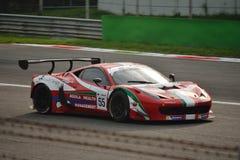 GT öppna Ferrari 458 italia GT3 på Monza Royaltyfri Fotografi