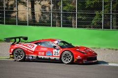 GT öppna Ferrari 458 italia GT3 på Monza Arkivfoto