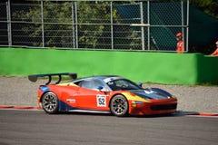 GT öppna Ferrari 458 italia GT3 på Monza Royaltyfria Foton