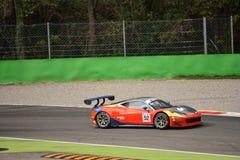 GT öppna Ferrari 458 italia GT3 på Monza Royaltyfri Foto