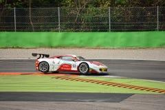GT öppna Ferrari 458 italia GT3 på Monza Royaltyfri Bild