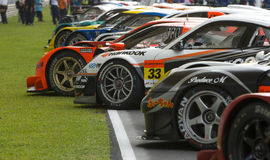 GT cars lining up Stock Photo