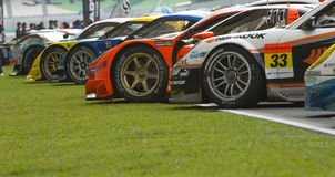 GT cars lining up Royalty Free Stock Images