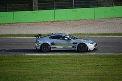 GT 4 European Series Aston Martin Vantage at Monza Stock Photos