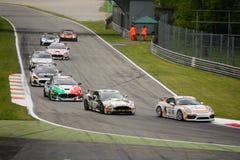 GT4 European Series cars racing at Monza Stock Images