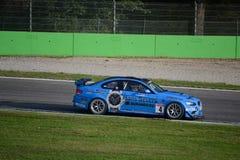 GT 4 Europese Reeks BMW M3 in Monza Stock Afbeeldingen