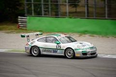 GT italiana ahueca Ebimototors Porsche 911 que compite con en Monza Fotografía de archivo libre de regalías
