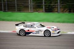GT italiana ahueca Ginetta G50 que compite con en Monza Imagenes de archivo