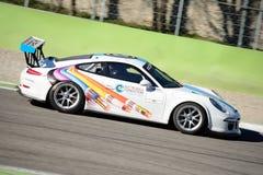 A GT italiana coloca Porsche 911 em Monza Fotos de Stock