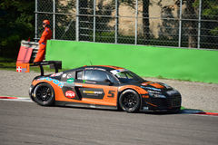 GT Open Audi R8 LMS Ultragt3 in Monza Royalty-vrije Stock Fotografie