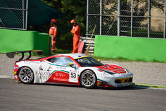 GT Open Ferrari 458 italia GT3 at Monza Royalty Free Stock Image