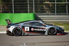 GT Open McLaren 650S GT3 in Monza stock afbeeldingen