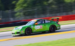911 GT3 for Patron team. Peter LaSaffre races the Porsche 911 GT3 for Patron team at the professional motorsports racing event, International Motor Sports Royalty Free Stock Photography