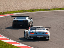 GT race cars Royalty Free Stock Images