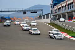 GT3 Porsche Cup Royalty Free Stock Photography