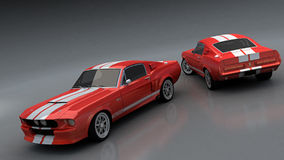 GT500CR red royalty free illustration
