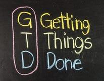 GTD para conseguir cosas hechas Imagen de archivo libre de regalías