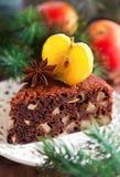 Gâteau aux pommes de chocolat Photos libres de droits