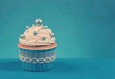 Gâteau bleu Photo stock