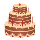 Gâteau d'anniversaire Photographie stock libre de droits