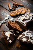 Gâteau découpé en tranches Photographie stock