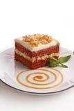 Gâteau de Carrrot Image libre de droits
