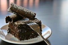 Gâteau de chocolat Photos libres de droits