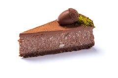 Gâteau de chocolat délicieux d'isolement Photographie stock libre de droits