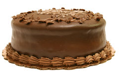 Gâteau de chocolat - entier Photos libres de droits