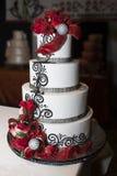 Gâteau de célébration de réception de mariage Image stock