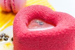 Gâteau de coeur Images stock