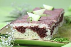 Gâteau de courgette Photos libres de droits