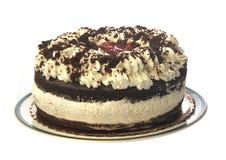 Gâteau de forêt noire. D'isolement Images libres de droits