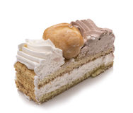 Gâteau de honoré de saint, tranche Photo stock