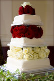 Gâteau de mariage parfait Photographie stock libre de droits