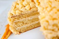 Gâteau de mimosa Photographie stock