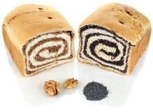 Gâteau de noix et de pavot Photographie stock libre de droits