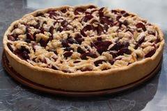 Gâteau de prune Image libre de droits