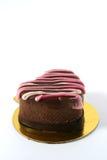 Gâteau en forme de coeur Photo stock