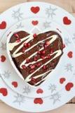Gâteau en forme de coeur Photo libre de droits