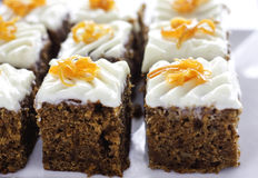 Gâteau à la carotte Images libres de droits
