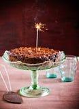 Gâteau riche de fruit Photographie stock