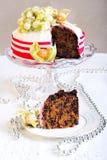 Gâteau riche de Noël de fruit Photo libre de droits